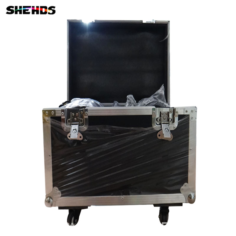 Flight Case with 4 pieces LED  Moving Head 7x12W  14 channels  with 4 pieces DMX Cables Free Shipping flight volume 4