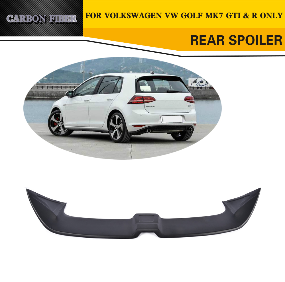 Car Styling FRP Car Rear Roof Lip Spoiler Wing For VW Golf VII MK7 GTI R  2014 2017