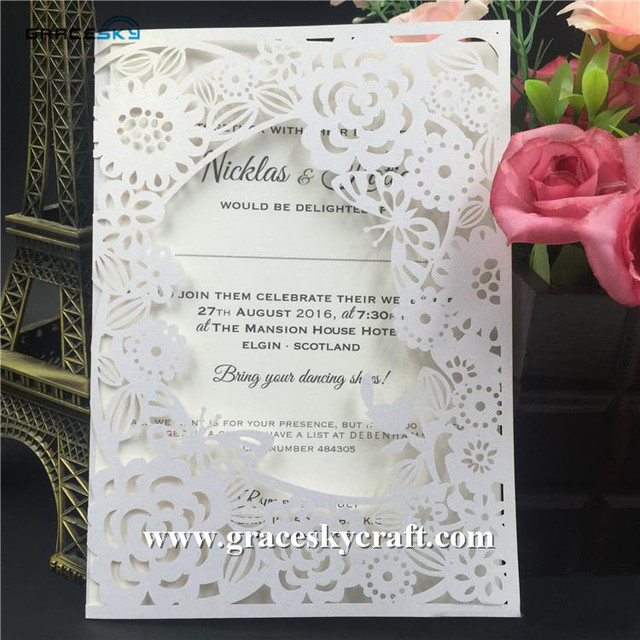 50pcs free shipping new flowers butterfly graden design paper laser 50pcs free shipping new flowers butterfly graden design paper laser cut wedding invitations cards for party stopboris Gallery