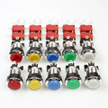New 10x Chrome Silver 30mm LED Lit Illuminated Push Buttons With Micro Switch For Arcade 8-Liner Cherry Master Mame