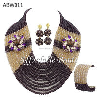 12 Rows African Beads Jewelry Set Colorful African Beads Set ABW011