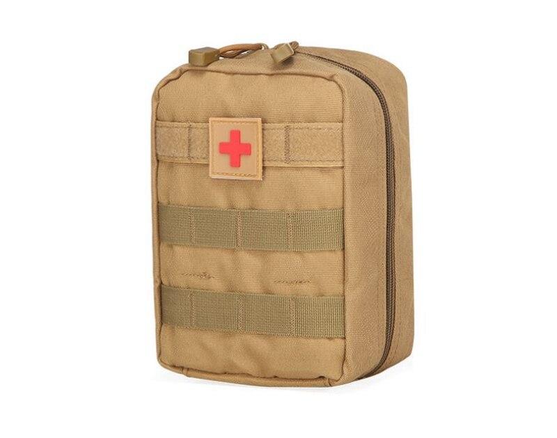 2019 Mode Kostenloser Versand + Großhandel Überleben Tasche Wasserdicht Taille Tasche Reise Medizinische Military Aid Kit Pouch, 30 Teile/los