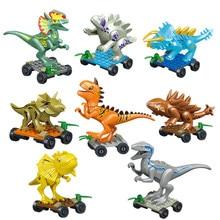 Jurassic Dinosaur world Figures Tyrannosaurs Rex Building Blocks Compatible With Legoings Dinosaur Toys For Children BKX97 все цены