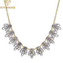 Women Bib Statement Luxury Rhinestone Necklace for a Classic Elegant Design Jewelry Colar For Gift Statement Necklaces N221(China)