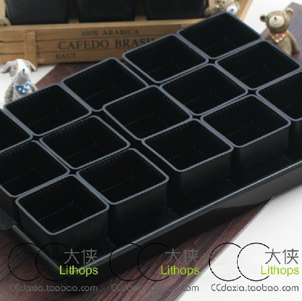 Plastic Nursery Pots 15 Square 1 Large Tray Box Fleshy Succulents Breathable