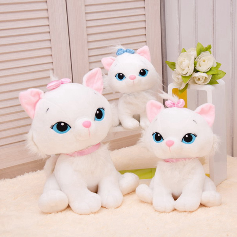 1PC 18cm 2 Color Cute Simulaton Aristocats Cat Marie Plush Animal Stuffed Toys For Kids Birthday Christmas Gifts