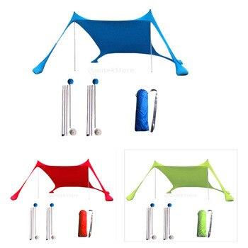 Portable Tent Tarp Sun Shelter Pop Up Beach Sun Shade Canopy for Outdoor Activities 3-4 person
