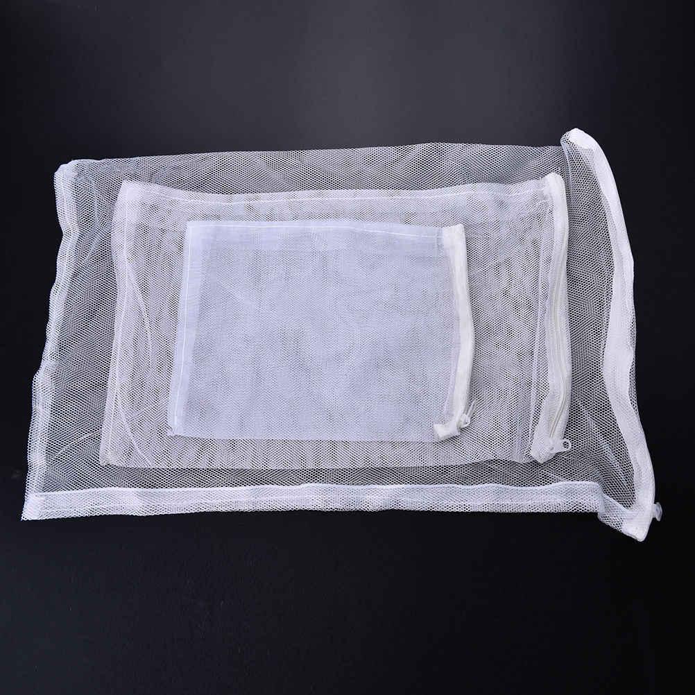1 ピース水族館の水槽池フィルターメッシュバッグネットバイオボールカーボンメディアアンモニアバッグ分離バッグ白