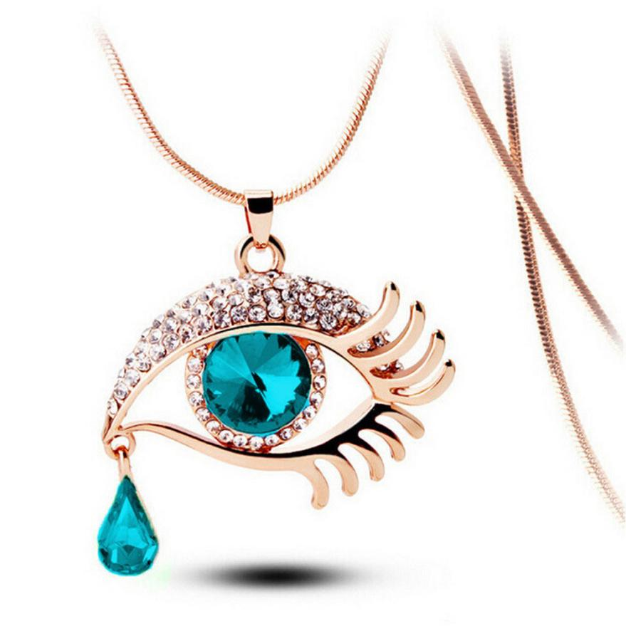 OTOKY 2018 Fashion Chain Necklaces Crystal Magic Eye