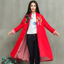 Trench Coat For Women Autumn Fashion Stand Collar Double Breasted Red And Black Long Wind Coats Plus Size Casaco Feminino