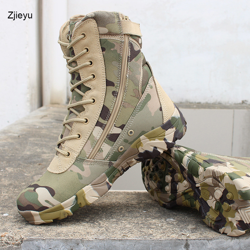 Men's Boots Basic Boots Bright 2018 New Men Military Bots Tactical Boots Desert Combat Outdoor Bot Army Hiking Boots Leather Autumn Ankle Boots Winter Boots