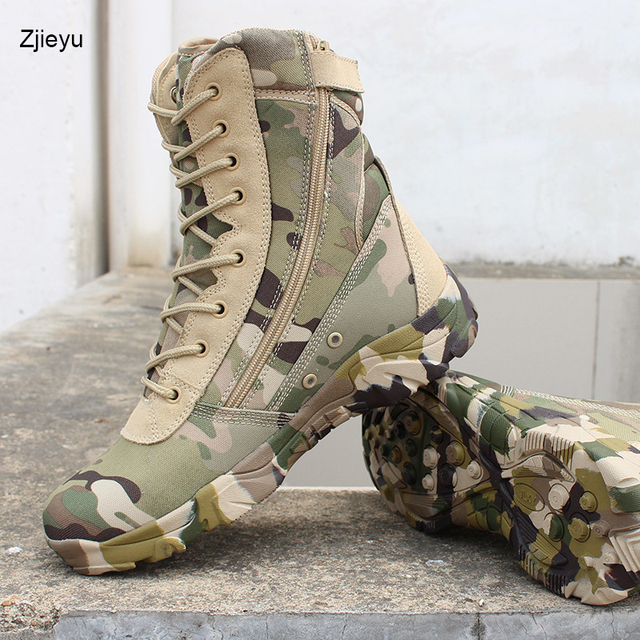 f55f4f6671e5 2018 new Men Military bots Tactical Boots Desert Combat Outdoor bot Army  Hiking boots Leather Autumn Ankle Boots winter boots