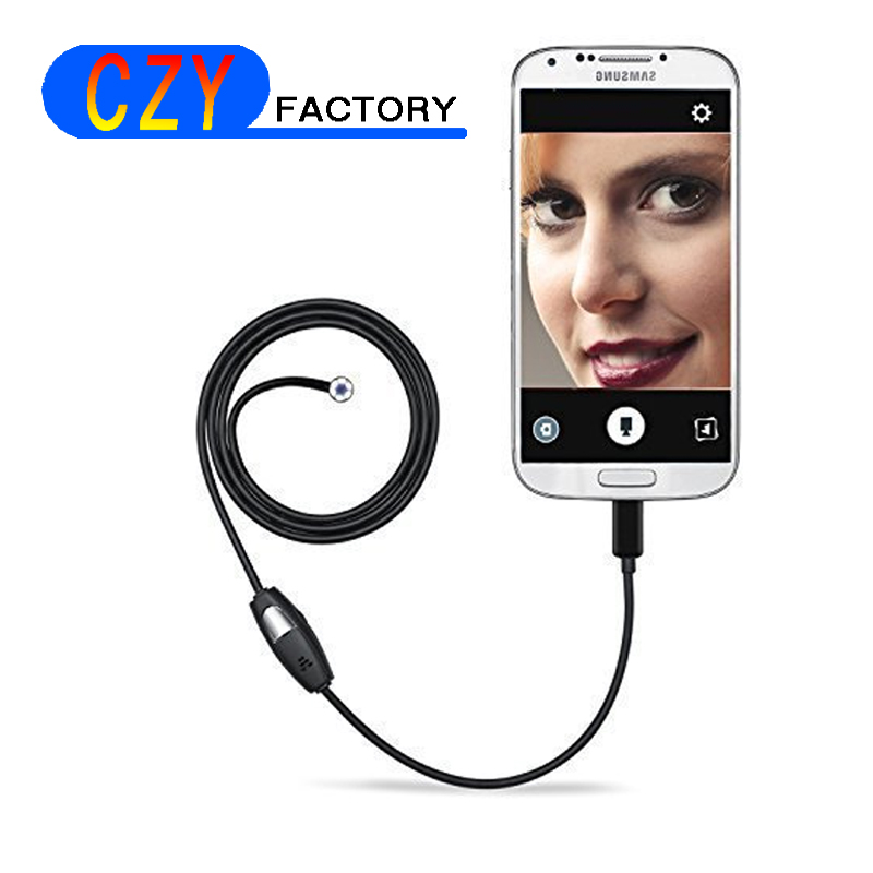 5m Android PC Endoscope Camera with  7mm Lens 6LED Waterproof OTG Micro USB Endoscopy Borescope Car Check for Android Phone PC headset bullet external camera for usb otg compatible android smartphones