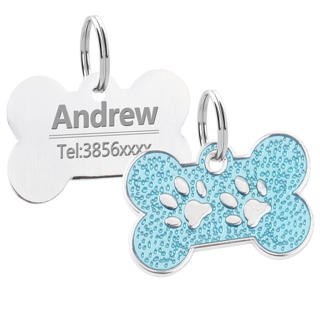 Dog's Stainless Steel Bone Shaped Tag