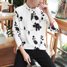 2016 Spring And Autumn New Chinese Style Embroidered Linen Long Sleeved Shirt Vintage Retro Original Large Size Shirt