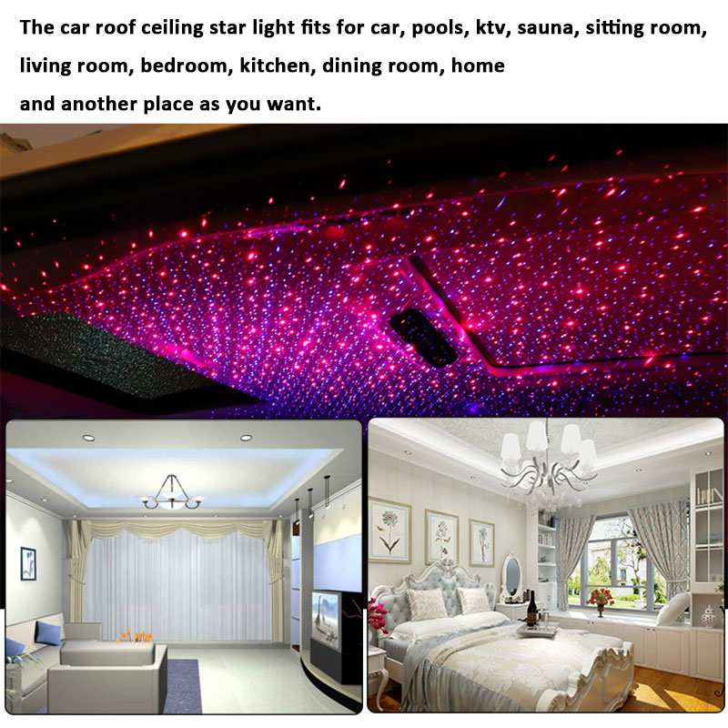 Us 44 79 20 Off Led Car Roof Star Night Lights Projector Universal Ceiling Decoration Light Interior Ambient Atmosphere Galaxy Lamp In Decorative