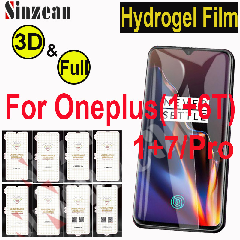 100pcs TOP Matte For Oneplus 7 PRO 1 7 Soft hydrogel Film For Oneplus 6T 1