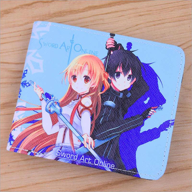 El Anime japonés Kumamon/Espada arte Online/lovelive!/Touken Ranbu en línea PU corto colorido monedero