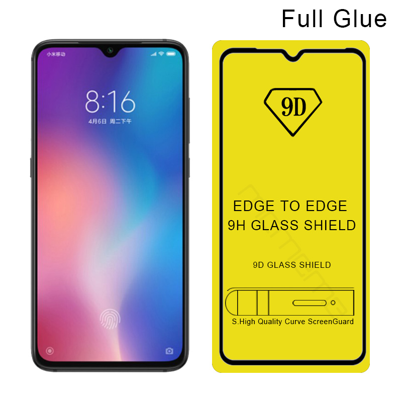 9D Tempered Glass For Xiaomi Mi 9 SE 9SE 9T Full Cover Screen Protector Film Mi9 SE Mi9SE Glue Film Redmi K20 Note 7 Pro