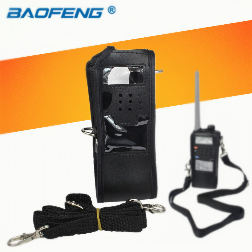 bilder für Ledertasche für baofeng uv-5r 3800 mah extended zweiwegradio fm tyt th-f8 th-uvf9 th-uvf9d walkie talkie uv 5r