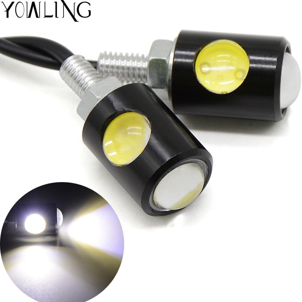 2Pcs Flashing Motorcycle LED Turn Signal Light White light 12 Led Indicator Circular Hollow Blinker Lamp License Plate Light