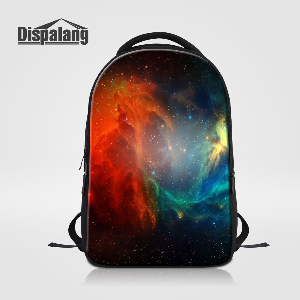 Dispalang Men Women Laptop Backpack Galaxy Nebula Printed School Bags For Teens Men's Travel Knapsack Rucksack For Students Pack dispalang brand laptop backpack flamingo pattern multifunction rucksack men casual daypacks unisex school bookbags bagpacks pack