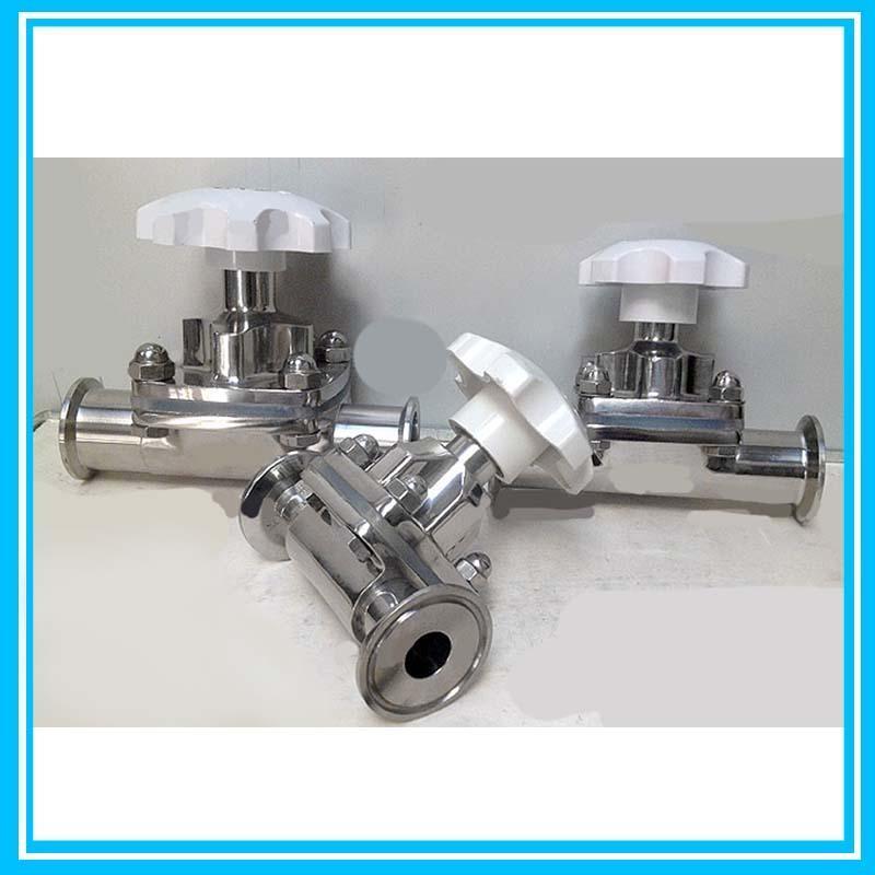 DN19 Sanitary Stainless Steel Diaphragm Valve/Air Pressure Regulator Motorized Valve ss316l stainless steel sanitary pneumatic manual diaphragm valve with epdm seal sdgmf 40e