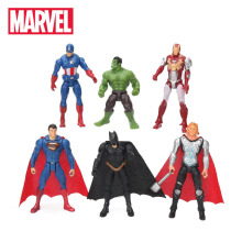 6pcs 10.5cm Mainan Marvel The Rajah Avengers Set Superhero Batman Thor Hulk Kapten Amerika Action Figure Collectible Model Doll