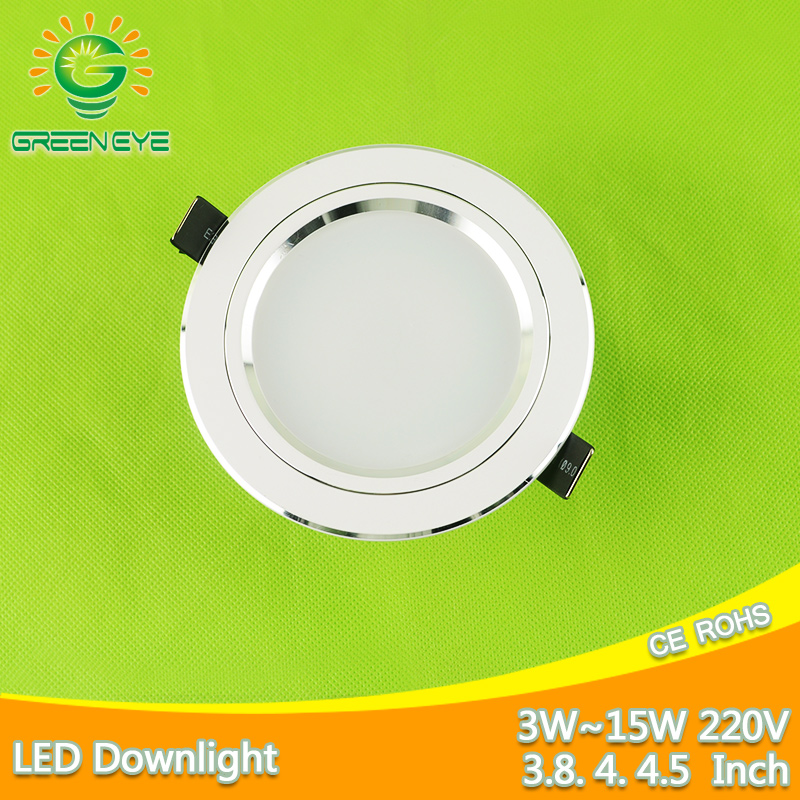 Ultra Bright Frosted Metal LED Downlight 5w 7w 9w 12w 15w Spot Light 110 ~ 220v Ceiling Down Light Indendørs Belysning Hjem Lysekrone
