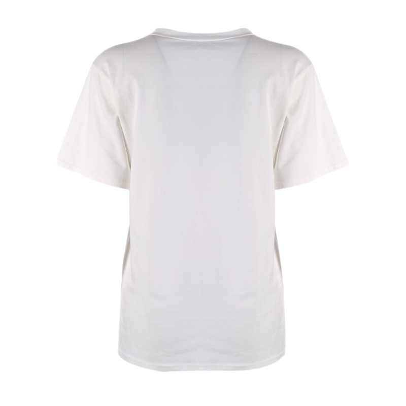 Gorąca sprzedaż lato kobiety biały T Shirt z krótkim rękawem list róża druku O szyi kobiety powodują koszulka Top