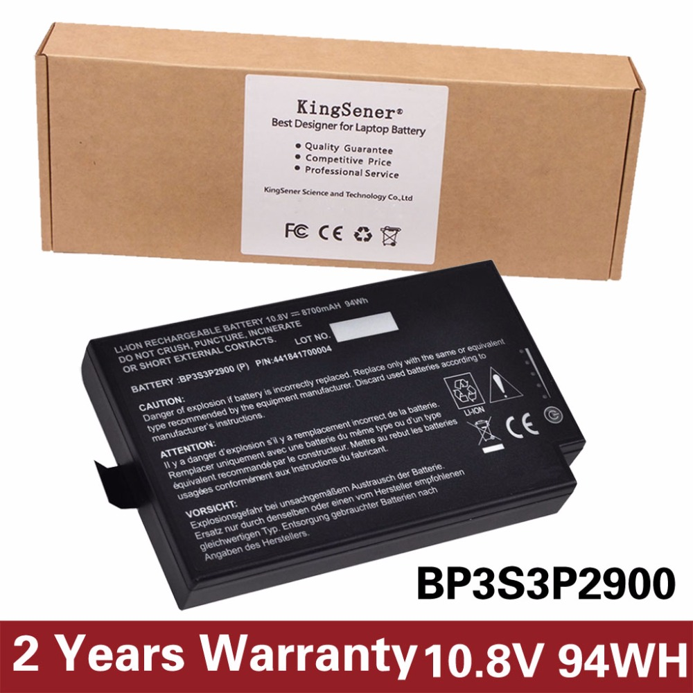 10.8V 8100mAh KingSener New Laptop Battery for Getac B300 B300X Rugged Notebook BP3S3P2900 4418144000490 Free 2 Years Warranty
