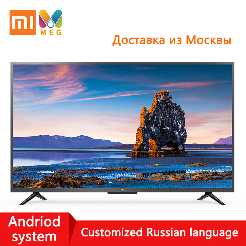 Television xiaomi TV andriod Smart TV LED 4S 4K 43 inch 1G + 8G Customized Russian language|Multi language