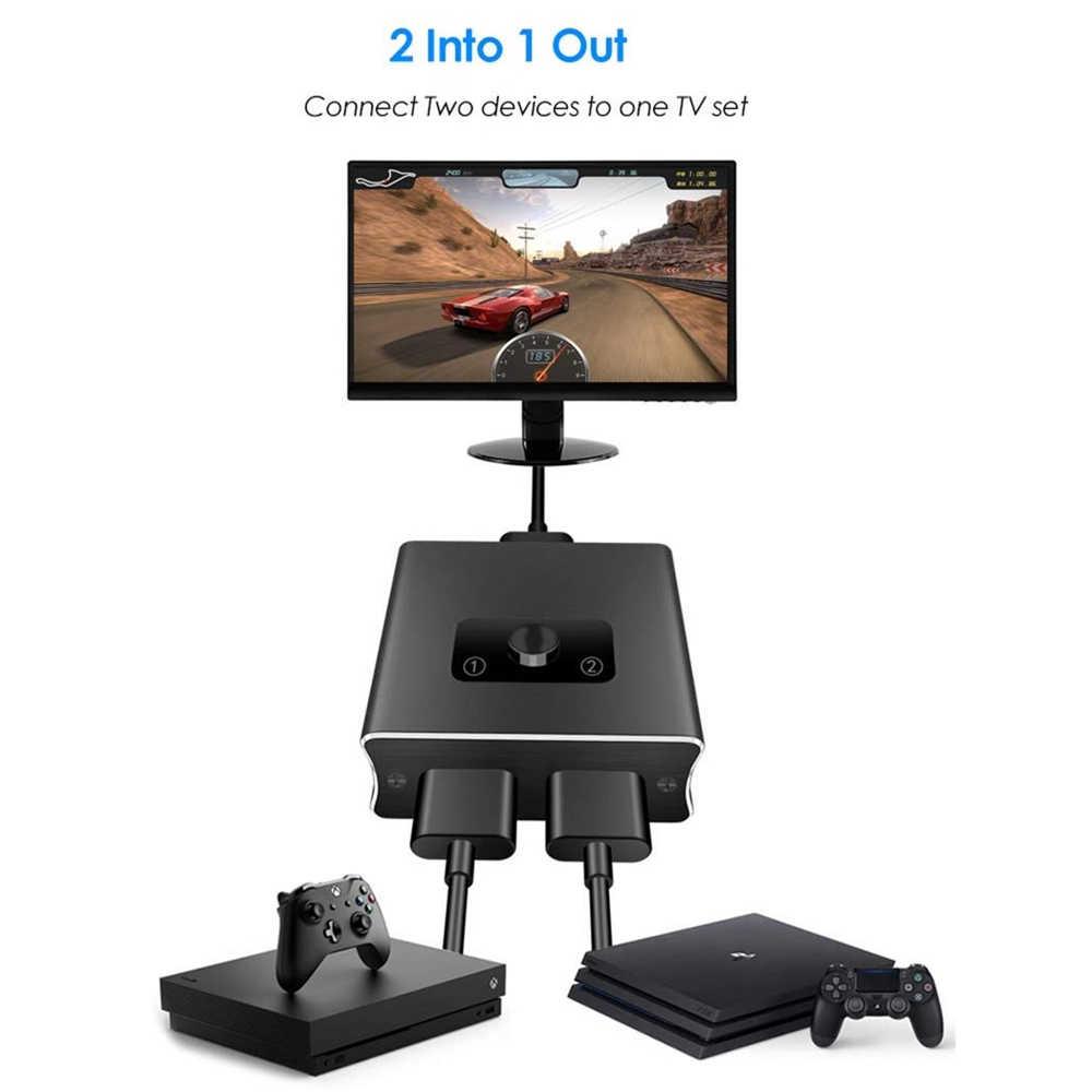 2019 1x2 HDMI ثنائية الاتجاه الجلاد دعم HDMI 2.0 HDCP 2.2 UHD 4K 2x1 HDMI التبديل صندوق محور لتلفزيون أبل ، XBox ، PS3 ، PS4 HDTV