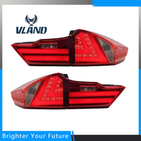 LED Car Tail Light Assembly For Honda City 2014 2015 ABS Rear Tail Light Tail Lamps