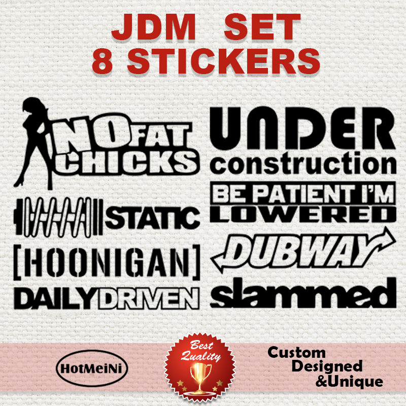 "JDM Wakaba Leaf Flag 3.6/"" car vinyl decal race sticker drift stance lowered"