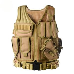 Image 4 - Zuoxiangru פריקה טקטי גברים Combat Vest טקטי צבא צבאי אוהדי הסוואה אפוד גוף Cs ג ונגל ציוד