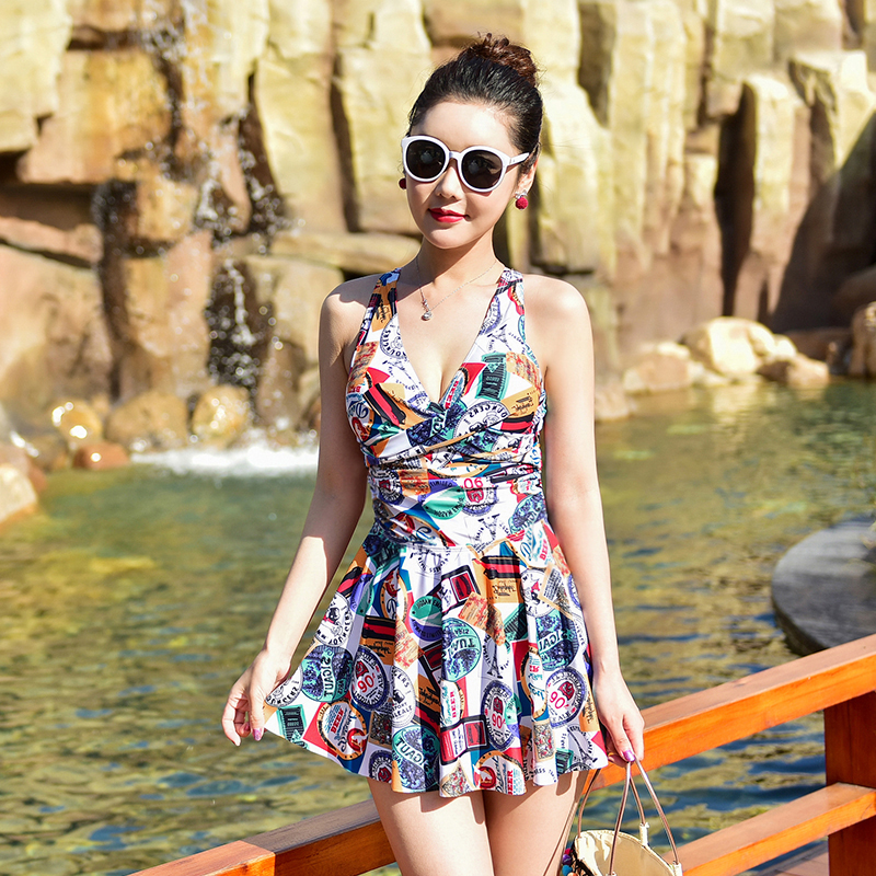 2017 New One Piece Swimsuit Sexy Swimwear Women Bathing Suit Swim Vintage Summer Beach Wear Print Bandage Monokini Swimsuit umlife 2017 new plus size swimwear women swimsuit sexy tankini retro vintage print bathing suit swim summer beach wear 3xl