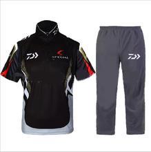 2017 Daiwa Fishing Clothing Sets Men Breathable UPF 50+ UV Protection Outdoor Sportswear Suit Summer Fishing Shirt and Pants