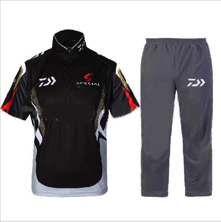 2017 Fishing <font><b>Clothing</b></font> Sets Men Breathable UPF 50+ <font><b>UV</b></font> Protection Outdoor Sportswear Suit Summer Fishing Shirt and Pants