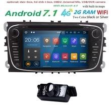 2 Din Автомагнитолы gps Android 7,1 dvd-плеер автомобиля для Ford Focus 2 3 S Max C Max Mondeo 4 Fiesta Galaxy подключения Kuga Мультимедиа Wi-Fi