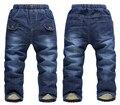 SK068 Теплый флис джинсы для детей мальчики Kk-кролик детей зимние толстые штаны детей джинсы брюки костюмы розничная