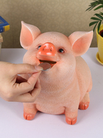 Resin Piggy Bank Money Box Pig Piggy Coin Bank Money Saving Box Home Decoration Figurines Craft New Year Gift For Kids Children