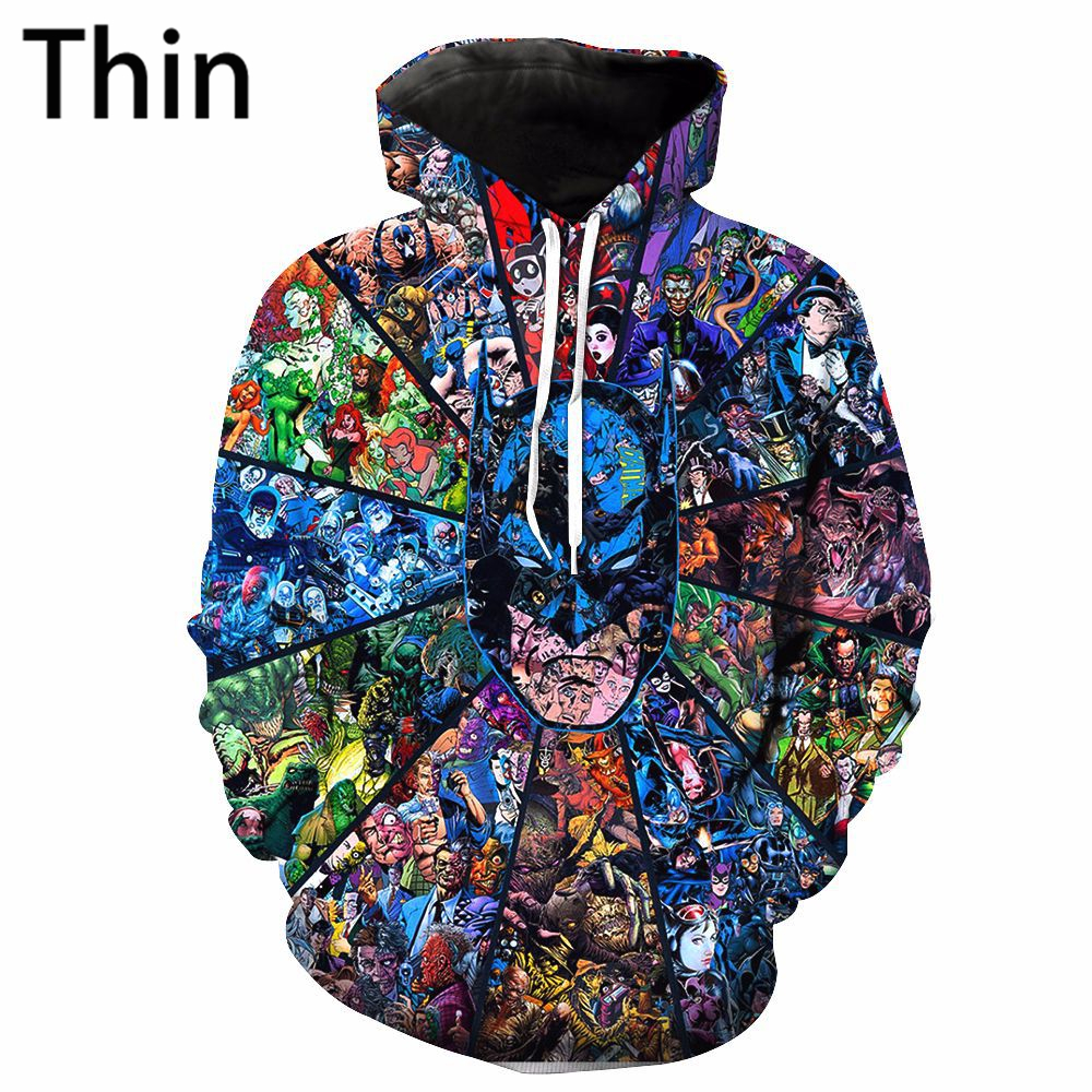Dropshipping The best-selling Super Handsome Batman 3D printed autumn and winter hoodies are very warm and stylish. Very nice