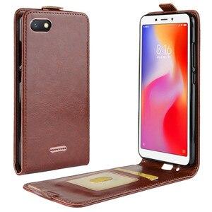 Image 4 - Redmi 6A étui à porte cartes en cuir Vertical à rabat pour Xiaomi Redmi 6A étui de protection complet pour téléphone