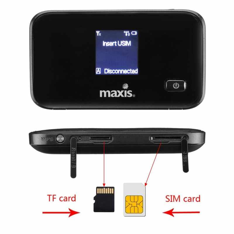 Enrutador inalámbrico usado ZTE MF93D 4G 100Mbps WIFI móvil Hotspot Pocket 4G Modem Mifi 2 uds antena con ranura para tarjeta SIM PK E5573
