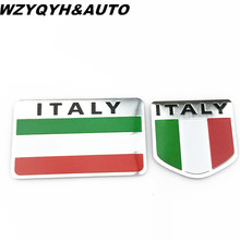 Car Stickers Aluminum Italy Map National Flag 3D For Fiat Lveco Lamborghini Alfa Romeo DeTomaso Maserati Zagato Car Styling
