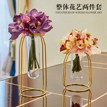 Nordic Creative metal Glass test tube flowers vase home decor crafts room decoration dining table office study ornament