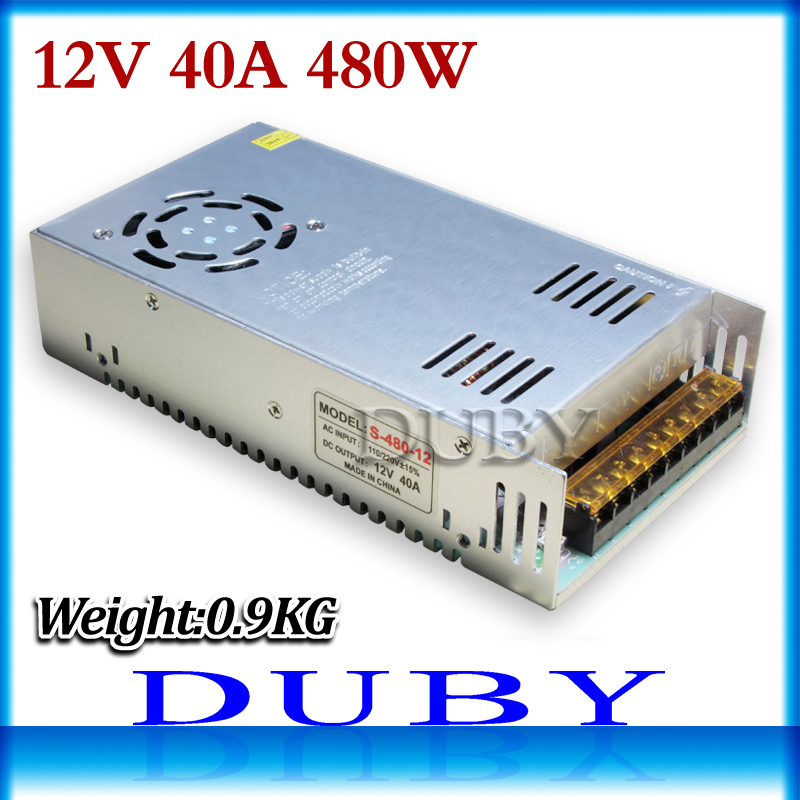 50piece/lot Small Volume 12V 40A 480W Switching power supply Driver For LED Light Strip Display AC100-240V Free Fedex кроссбоди labbra сумки для документов и барсетки