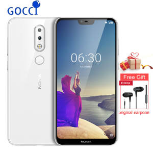 Nokia X6/6.1 plus 5.8 inch 18:9 FHD + Snapdragon Mobile Phone 4G/6G 64G 636