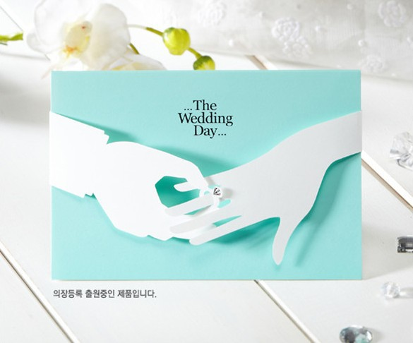 FreeShip Custom Wedding Invitation Card Evelope Label Classic Luxury Diamond Ring Design Party